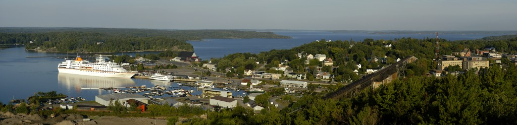 Parry Sound Harbour from the Lookout Tower