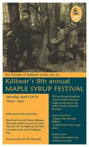 Killbear Park Maple Syrup Festival