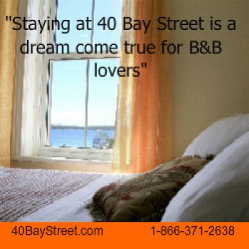 40 Bay Street Bed and Breakfast Ad