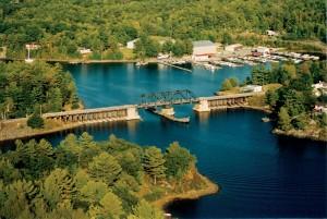 Swing Bridge to Wasauksing on Parry Island