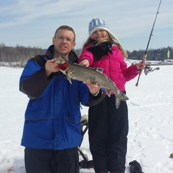 Ice fishing for Lake Trout