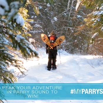 Winter Snowshoe Outdoor Adventure in Parry Sound