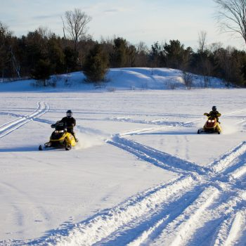 Snowmobiling in Parry Sound, Ontario